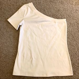 Ann Taylor asymmetrical cotton top